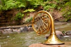 Strumento del corno francese Fotografia Stock