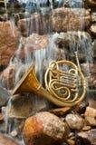 Strumento del corno francese Fotografie Stock