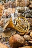 Strumento del corno francese Fotografie Stock Libere da Diritti