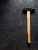 Strumento del martello a fondo nero Fotografia Stock Libera da Diritti