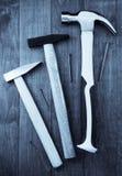 Strumento del martello su legno Immagine Stock Libera da Diritti