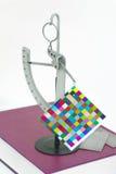 Strumento dello strumento del libre di misura del peso di carta offset Fotografia Stock