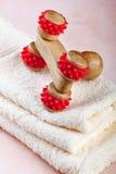 Strumento di legno cinese di massaggio Fotografia Stock Libera da Diritti