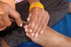 Strumento di legno di massaggio Fotografie Stock Libere da Diritti
