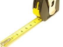 Strumento di misura - nastro giallo Fotografie Stock
