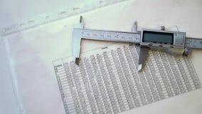 Strumento di misura o calibro stock footage