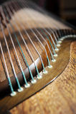 Strumento di musica cinese Guzheng fotografie stock libere da diritti