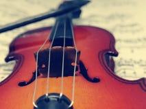 Strumento di musica del violino Fotografia Stock Libera da Diritti