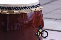 Strumento di percussione giapponese tradizionale Taiko Fotografia Stock