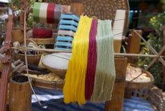 Strumento di seta di tessitura Fotografie Stock