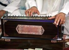 Strumento-Harmonium sikh Fotografie Stock