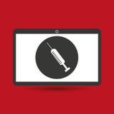 Strumento medico di servizio di Notebook PC Immagini Stock