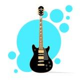 Strumento musicale acustico della chitarra sopra l'estratto illustrazione di stock