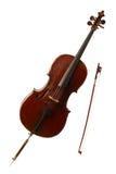 Strumento musicale classico - violoncello Fotografie Stock Libere da Diritti