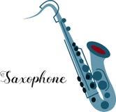 Strumento musicale del sassofono illustrazione di stock