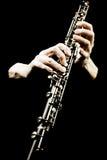 Strumento musicale di Oboe dell'orchestra sinfonica. Fotografia Stock