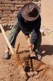 Strumento peruviano per coltivare Fotografia Stock