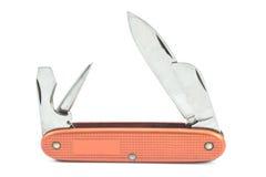 Strumento svizzero rosso d'annata del coltello di esercito Fotografia Stock