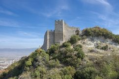 Strumica, Macedonia - Carevi Kuli. Strumica, Macedonia - panorama with the fortress from above the city stock images