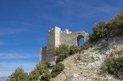 Strumica, Macedonia - Carevi Kuli. Strumica, Macedonia - panorama with the fortress from above the city stock photos