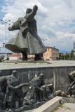 Monument of Gotse Delchev at the central square of town of Strumica, Republic of Macedonia. STRUMICA, MACEDONIA - JUNE 21, 2018: Monument of Gotse Delchev at the stock images
