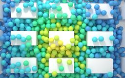 Strumień barwione piłki Obraz Stock