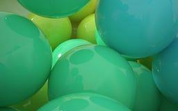 Strumień barwione piłki Zdjęcia Stock