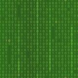 Strumień binarny kod EPS 10 bezszwowy zielony tło Royalty Ilustracja