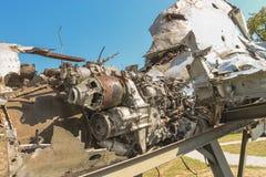 Strumień enginedisplayed przy muzeum wojsko kolekcje od Chorwackiej ojczyzny wojny zdjęcie royalty free