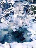 Strumień marznący w zimie Obraz Stock