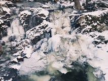 Strumień marznący w zimie Zdjęcie Stock