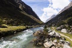 Strumień w Huascaran parku narodowym zdjęcia royalty free