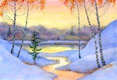 strumień zima Zdjęcie Royalty Free
