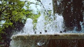 Strumienie fontanna w zwolnionym tempie zbiory