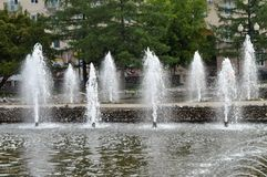 Strumienie i pluśnięcia woda Obraz Royalty Free