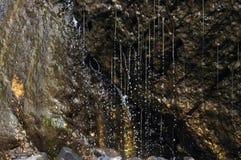Strumienie wodne kropelki przy działem Wyrzucać na brzeg falezy, Oregon Fotografia Royalty Free