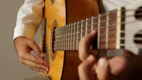 Strumming chords stock footage
