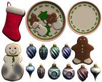 Strumpf-Geschenke auf einem weißen Hintergrund Stockbild
