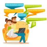 Strumpfbänder und Strümpfe Paare, die zusammen mit Laptop sitzen Lizenzfreie Stockfotografie