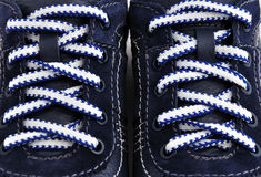 Strung sneakers Stock Photo