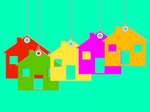 Strung Tag Houses Royalty Free Stock Photo