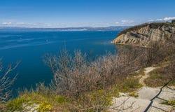 Strunjan cliff, Slovenia royalty free stock images