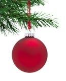 Struntsak och julgran arkivfoto