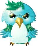 Strusia twarz gniewny bird royalty ilustracja
