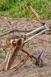 Struttura abbandonata della bici fotografia stock