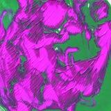 Struttura acrilica di astrazione per verde del fondo illustrazione di stock
