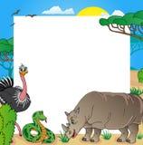 Struttura africana con gli animali 03 Royalty Illustrazione gratis