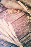 Struttura agricola con grano Immagine Stock Libera da Diritti