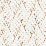 Struttura alla moda dell'onda punteggiata estratto Reticolo geometrico senza giunte di vettore illustrazione vettoriale
