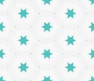 Struttura alla moda moderna della stella di esagono Mattonelle geometriche delicate Fotografie Stock